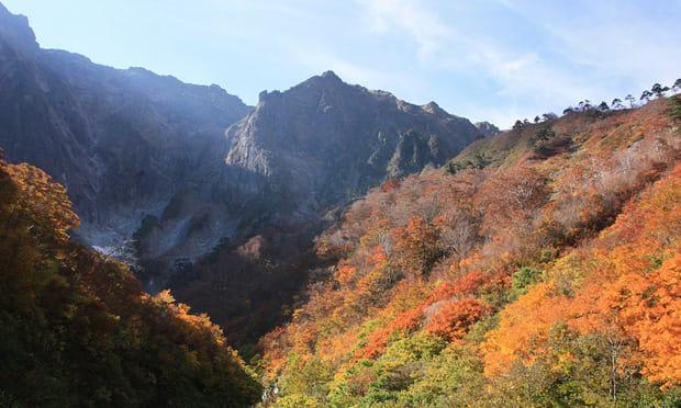 16. Quận Gunma, Honshu, Nhật Bản: Honshu là một điểm đến không thể bỏ lỡ vào mùa thu. Không chỉ là sắc đỏ - vàng - xanh đẹp tuyệt vời mà đến đây bạn còn có thể bắt gặp những đàn khỉ hoang dã.