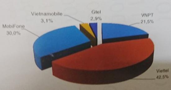 Viettel, VNPT, MobiFone chiếm tới 95% thị phần dịch vụ viễn thông di động - Ảnh 3.