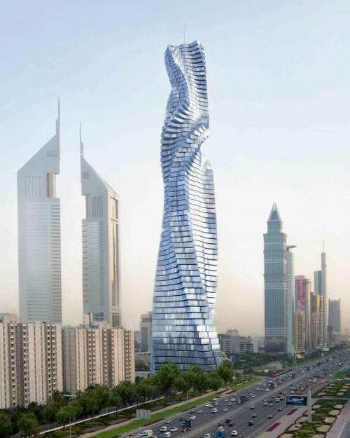 Mỗi tầng của tòa nhà 80 tầng này có thể tự xoay đủ 360 độ – giúp cho người ngồi trong nhà thay đổi phong cảnh họ muốn thấy qua cửa sổ.
