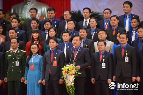Bí thư thứ nhất BCH Trung ương Đoàn khóa XI Lê Quốc Phong phát biểu sau lễ ra mắt.