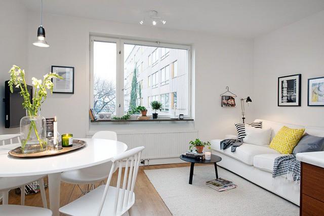 Phong cách thiết kế nội thất Bắc Âu (Scandinavia) ấn tượng trong căn hộ hơn 40m2  - Ảnh 3.