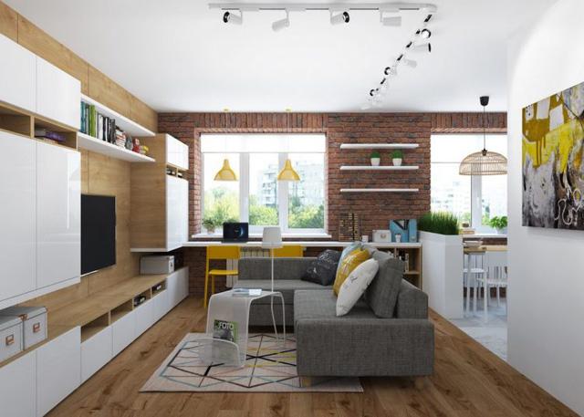 Thiết kế nội thất chất lừ của ngôi nhà ống 65m2 cho các gia đình trẻ - Ảnh 4.