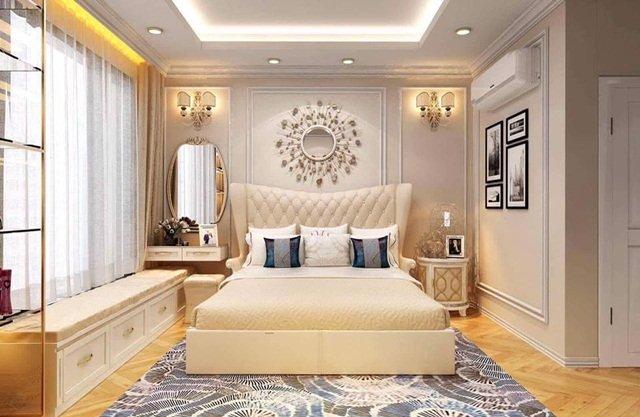 Phòng ngủ đơn giản nhưng nhìn rất sang trọng
