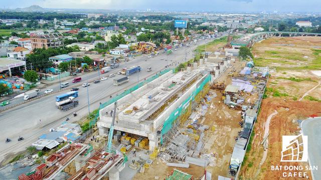 Tuyến Metro số 1 Bến Thành - Suối Tiên nhìn từ trên cao - Ảnh 4.