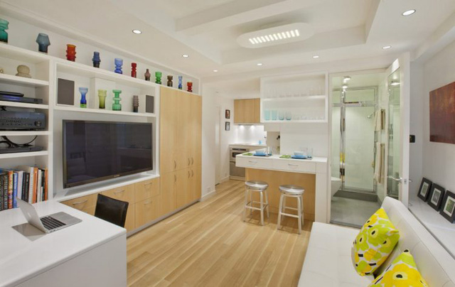 Thiết kế nội thất căn hộ 32m2 chất lừ cho gia đình trẻ - Ảnh 4.