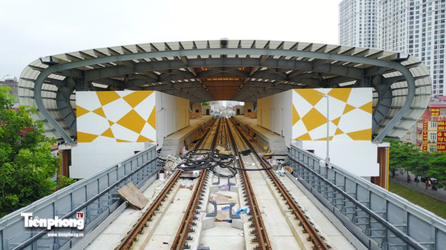 Hình ảnh dự án đường sắt Cát Linh - Hà Đông trước ngày chạy thử - Ảnh 4.
