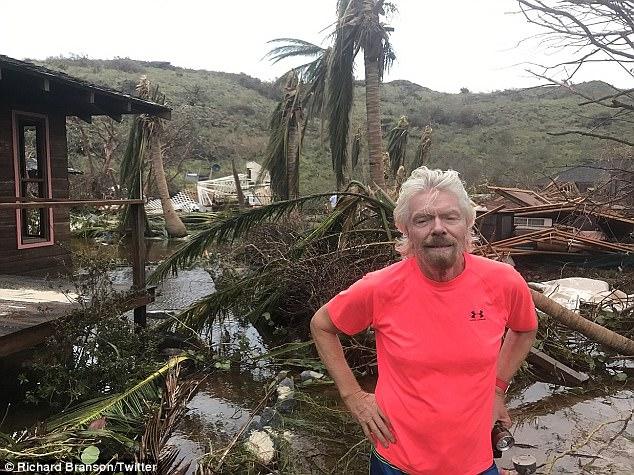 Nhà của tỷ phú Richard Branson tan tành vì siêu bão Irma - Ảnh 4.