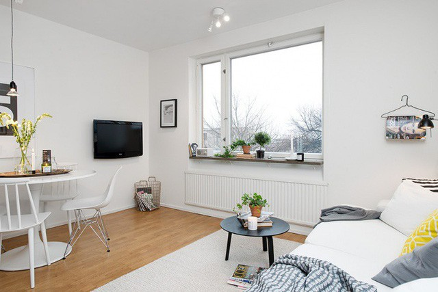 Phong cách thiết kế nội thất Bắc Âu (Scandinavia) ấn tượng trong căn hộ hơn 40m2  - Ảnh 4.