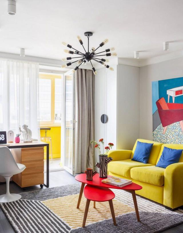 Căn hộ 35m2 đẹp mãn nhãn với nội thất nhiều màu sắc - Ảnh 5.