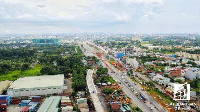 Tuyến Metro số 1 Bến Thành - Suối Tiên nhìn từ trên cao - Ảnh 6.