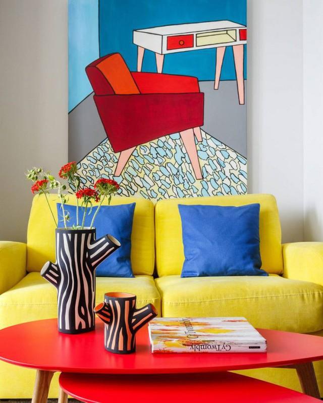 Căn hộ 35m2 đẹp mãn nhãn với nội thất nhiều màu sắc - Ảnh 6.