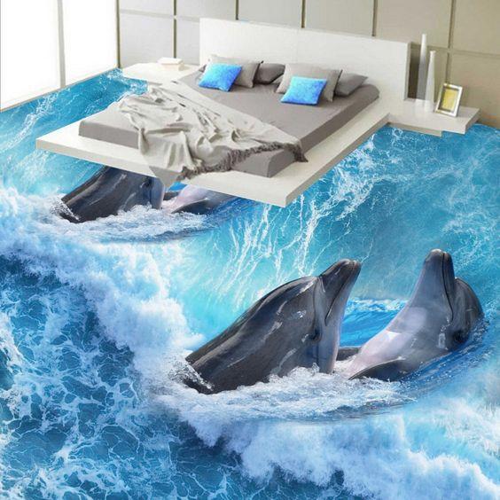 Các không gian được chọn loại sàn 3D thường là phòng tắm, phòng ngủ và phòng khách.