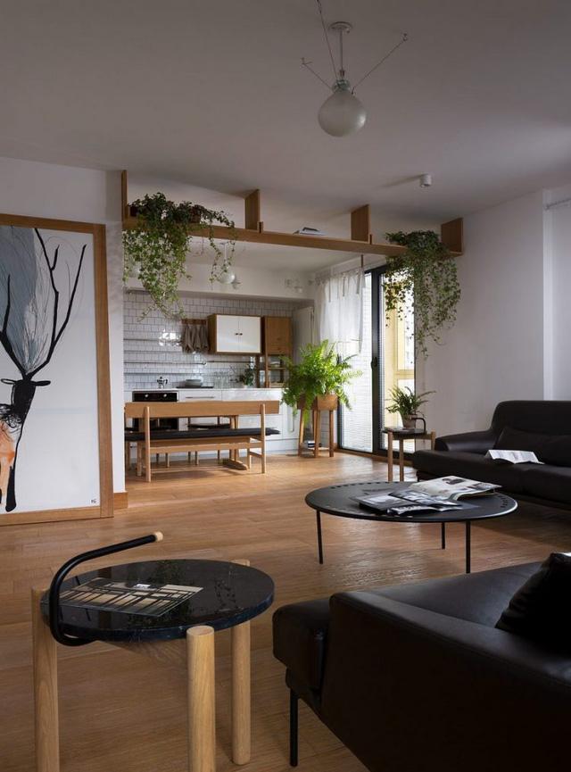 Căn hộ đẹp như mơ với cây xanh và nội thất gỗ - Ảnh 8.
