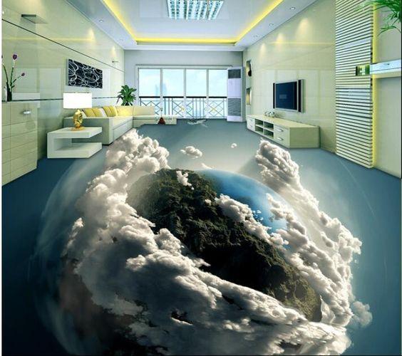 Sử dụng sàn nhà 3D mang đến cho chủ nhà những phút giây thư giãn thực sự sau 1 ngày làm việc và học tập căng thẳng.