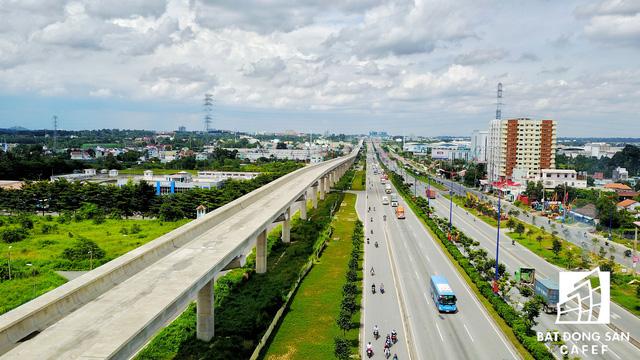 Tuyến Metro số 1 Bến Thành - Suối Tiên nhìn từ trên cao - Ảnh 9.