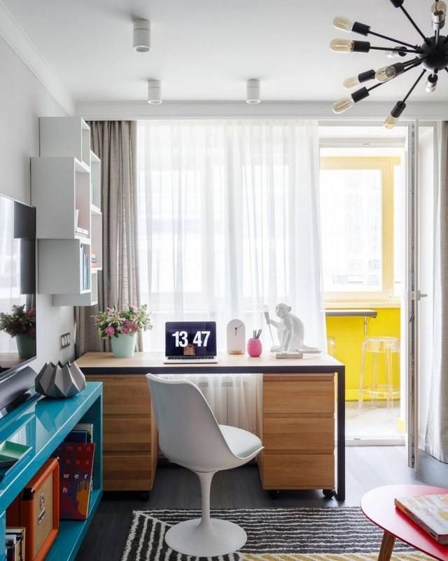 Căn hộ 35m2 đẹp mãn nhãn với nội thất nhiều màu sắc - Ảnh 9.