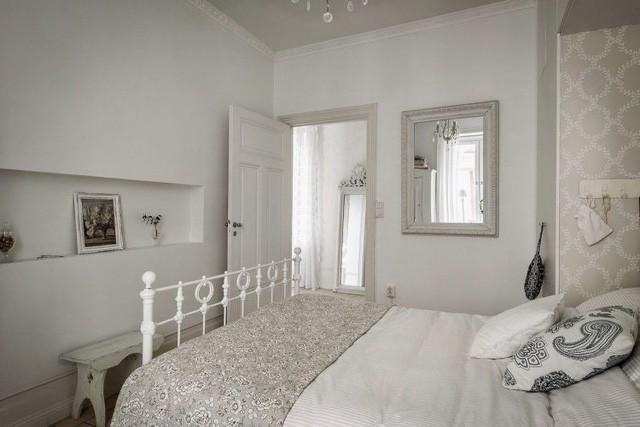 Căn hộ chỉ 50m2 được thiết kế tông màu trắng, đem lại không gian sống rộng rãi và sang trọng - Ảnh 9.