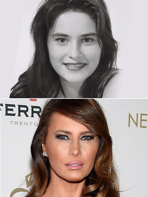 Khuôn mặt Đệ nhất Phu nhân Mỹ vẫn sắc sảo khi đã luống tuổi.
