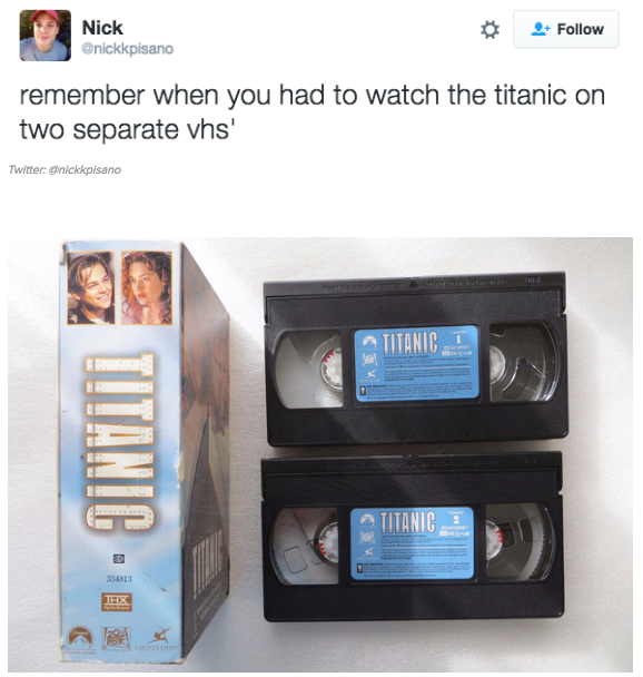 Giới hạn công nghệ có thể cắt đứt cảm hứng của bạn, khi một bộ phim chứa trên... hai cái băng.
