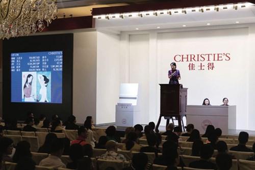 Bộ đôi tranh lụa của Mai Trung Thứ được bán với giá gần 100.000 USD tại nhà Christie's Thượng Hải ngày 20/10/2016