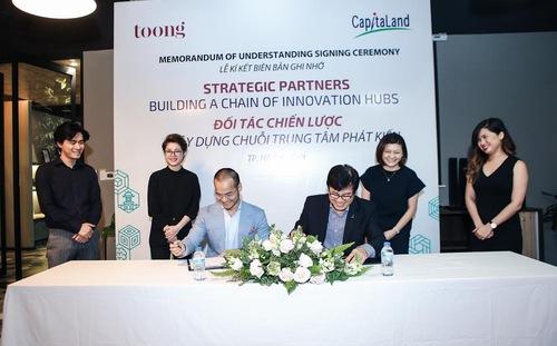 CapitaLand Vietnam đã ký kết hợp tác chiến lược với Toong.