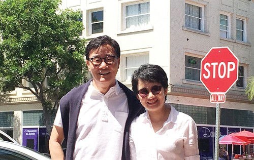 Vợ chồng doanh nhân Kim Tae Kon và Kim Hạnh. Ảnh: Nhịp Cầu Đầu Tư