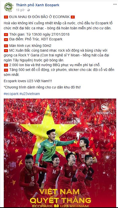 Cách cổ động U23 Việt Nam độc đáo của người Hà Nội: Nhuộm đỏ cả tòa nhà, đường phố, tổ chức tiệc bia miễn phí xem chung kết - Ảnh 5.