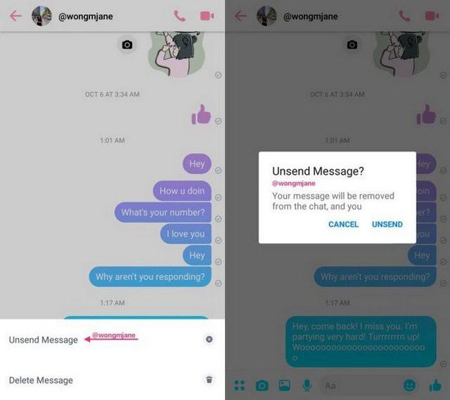"""facebook - photo 1 1539483474655572879595 - Facebook Messenger bắt đầu thử nghiệm tính năng giúp bạn """"rút lại"""" tin nhắn nếu có lỡ gửi hoặc viết nhầm cho ai đó"""