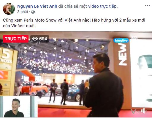 Soobin Hoàng Sơn, Chi Pu và loạt sao Việt đồng loạt chia sẻ tường thuật sự kiện ra mắt xe VinFast tại Paris Motor Show - Ảnh 1.
