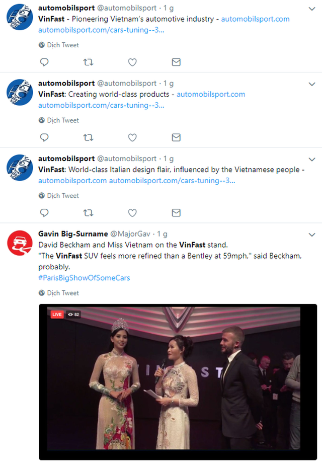 VinFast lọt Top Trending của Twitter ngay khi trình diễn, dân tình quốc tế bình luận ầm ầm không kém người Việt - Ảnh 2.