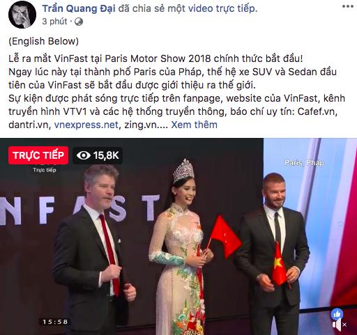 Soobin Hoàng Sơn, Chi Pu và loạt sao Việt đồng loạt chia sẻ tường thuật sự kiện ra mắt xe VinFast tại Paris Motor Show - Ảnh 4.