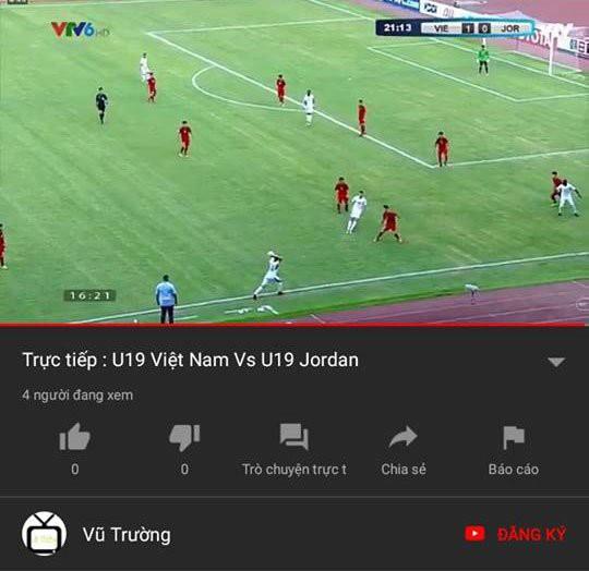 bánh khúc tv vi phạm bản quyền - photo 1 1540123206797374423620 - Bánh khúc TV vi phạm bản quyền trận đấu U19 Việt Nam và U19 Jordan