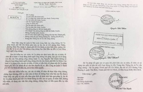 Khởi tố vụ án văn phòng công chứng giả khoảng 600 hồ sơ ở Sài Gòn - Ảnh 1.