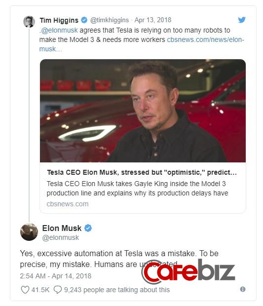 Bắt tự động hóa mọi thứ, kỹ sư nói chỉ có thể làm 4 lớp, khăng khăng phải làm cho tôi 3 lớp: Phong cách quản lý tổn hao tiền bạc, khiến các nhân viên Tesla chạy mất dép của Elon Musk - Ảnh 1.