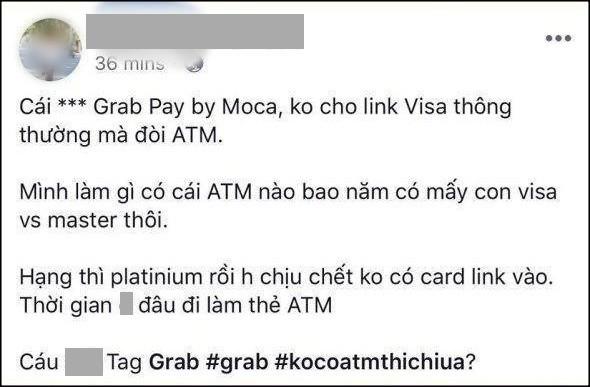 Khách kêu trời vì những bất tiện từ Grab: Visa và Master Card vô dụng, phải có ATM mới dùng được ví GrabPay by Moca - Ảnh 1.