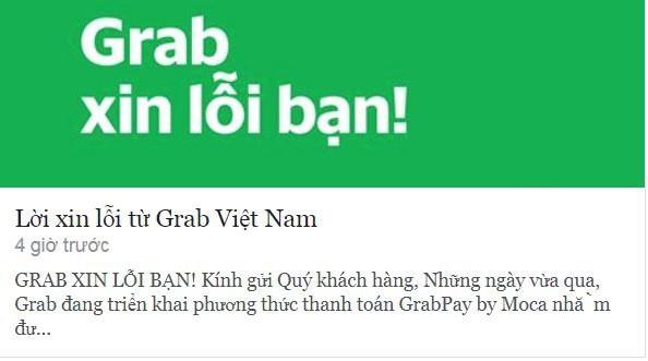 Khách hàng nổi giận vì ví điện tử GrabPay by Moca: Grab xin lỗi và trấn an người dùng - Ảnh 1.