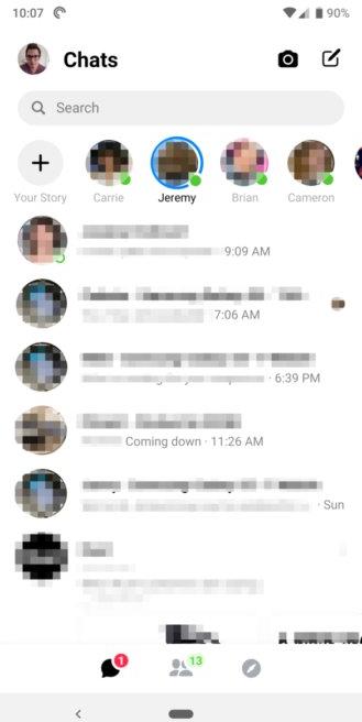 Facebook bất ngờ rút lại giao diện mới trên Messenger - Ảnh 1.