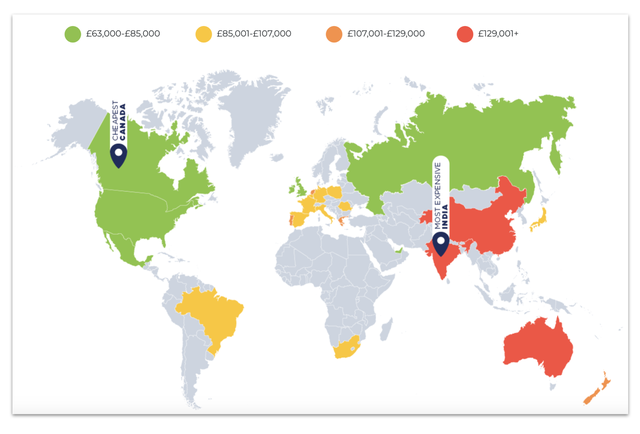 Đây chính là những quốc gia phân phối xe rẻ nhất và đắt nhất từng phân khúc - Ảnh 2.