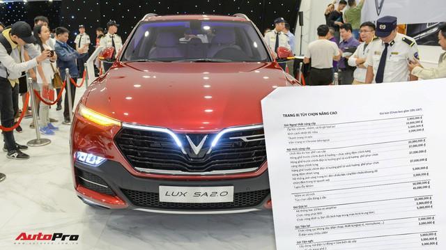 """Khách Việt mất thêm 300 triệu nếu mua mẫu sedan, SUV VinFast """"full option"""" - Ảnh 1."""