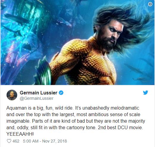 Aquaman được ca ngợi là bom tấn siêu anh hùng DC xuất sắc nhất từ trước tới nay - Ảnh 2.