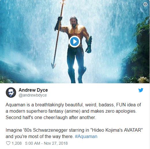Aquaman được ca ngợi là bom tấn siêu anh hùng DC xuất sắc nhất từ trước tới nay - Ảnh 8.