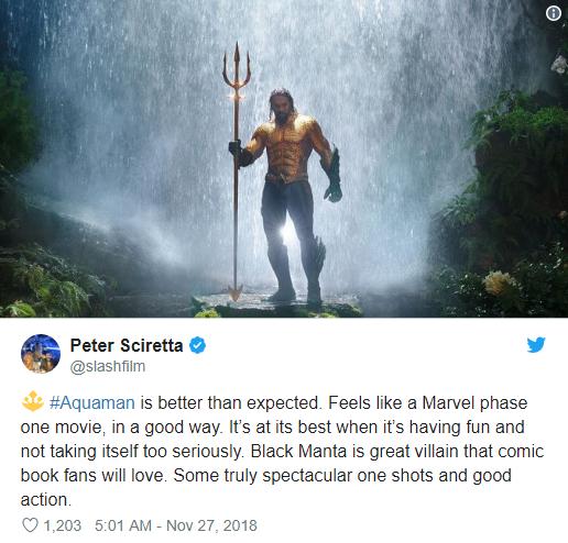 Aquaman được ca ngợi là bom tấn siêu anh hùng DC xuất sắc nhất từ trước tới nay - Ảnh 10.
