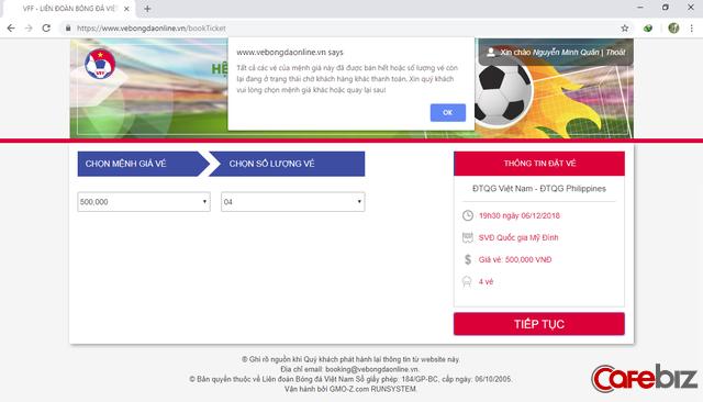 VFF chính thức lên tiếng: Mới chỉ có 5.000 vé được bán online thành công - Ảnh 1.