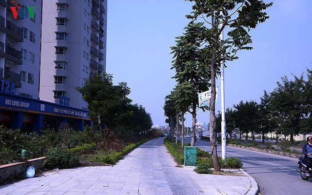 Cận cảnh phố 8 làn xe ở Hà Nội được đề xuất đặt tên Trịnh Văn Bô - Ảnh 12.