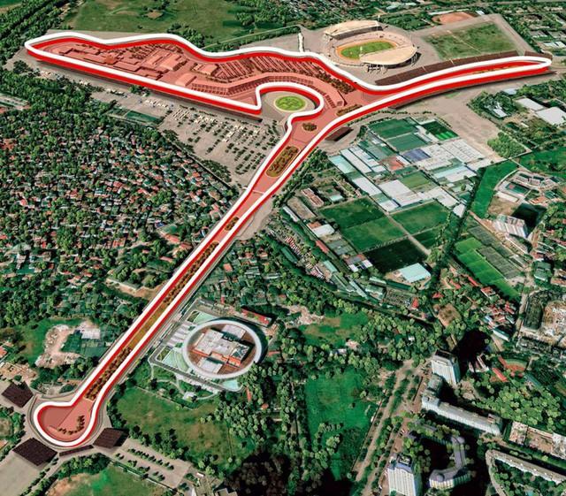 Đua xe f1, Đua xe f1 ở hà nội, - photo 2 1541586853212977188228 - Hé lộ sơ đồ đường đua F1 quanh khu vực Mỹ Đình vào tháng 4/2020