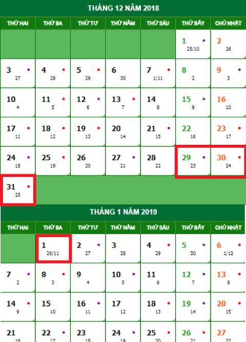 Lịch nghỉ Tết Dương lịch 2019 chính thức và cách tính lương ngày lễ, Tết - Ảnh 1.
