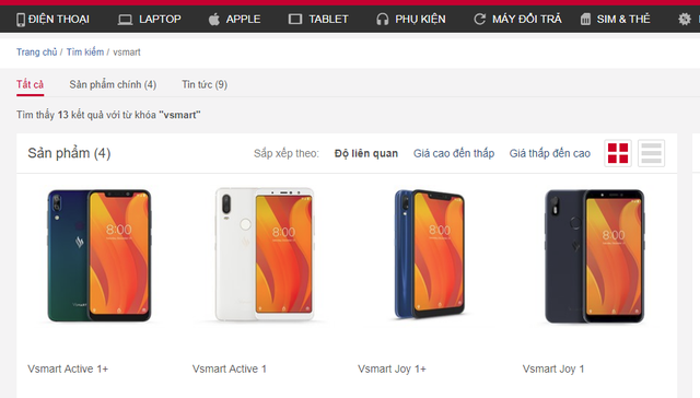 Vsmart lộ diện trên website chính thức nhà bán, chỉ chờ chốt giá - Ảnh 2.