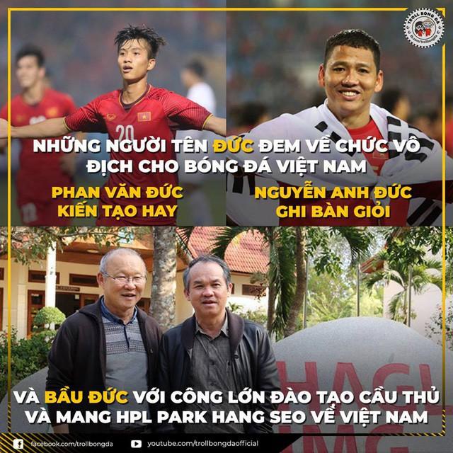 Việt Nam vô địch AFF Cup 2018, hàng ngàn người hâm mộ gửi lời tri ân đến bầu Đức  - Ảnh 1.