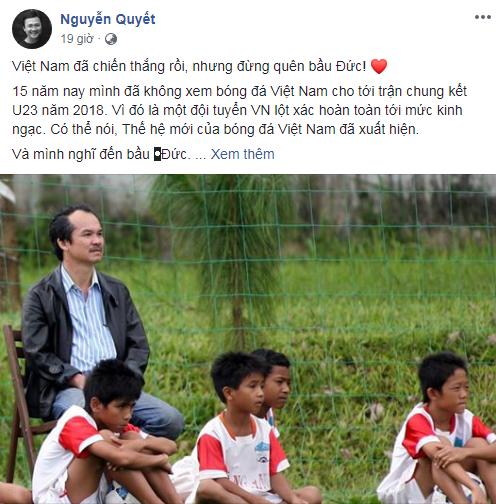 Việt Nam vô địch AFF Cup 2018, hàng ngàn người hâm mộ gửi lời tri ân đến bầu Đức - Ảnh 2.