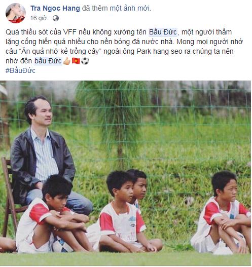 Việt Nam vô địch AFF Cup 2018, hàng ngàn người hâm mộ gửi lời tri ân đến bầu Đức  - Ảnh 4.